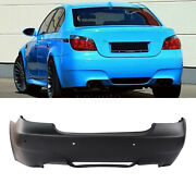 Fit For Bmw E60 M5 Style Rear Bumper Quad Exhaust Cutout For E60 5 Series W/pdc