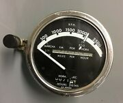 John Deere Original Good Working Tachometer With White Needle For 2520 And 3020