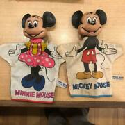 Mickey Minnie Mouse Finger Doll Vintage Figure Made In Japan