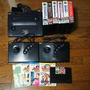 Snk Neo Geo Aes Game Console And 7 Software Set Operation Confirmed Japan Games