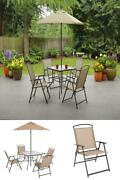 Patio Furniture Set Bistro Umbrella Hole Chair Table Outdoor Pool Deck Accent