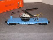 Lionel 3419 Helicopter Launching Car Complete Orig. Parts, Instruct And Box. 1959
