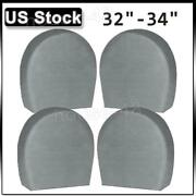 Set Of 4 Heavy Duty Rv Car Wheel Tire Covers For Truck Trailer Camper 32-34