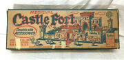 1953 Vintage Marx 1st Issue Medieval Castle Fort Play Set New Boxed Inserts Rare