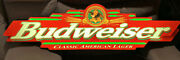 1998 Budweiser Classic American Lager Lighted Sign 45 Long Indoor Bud Beer