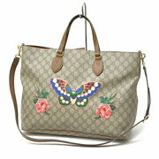 Bag 2way Tote Shoulder For Japan Only Women And039s Gg Flower Bu _67000