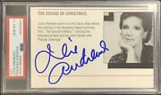 Julie Andrews Signed Cut Page Sound Of Music Mary Poppins Psa/dna Auto Gem Mt 10