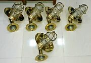 Outdoor Nautical Vintage Style Bulkhead Wall Sconce Light Made Of Brass 5 Piece