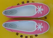 Supercute Talbots Pink Sneakers Kelly Green Accents Size 8m Mint Cond