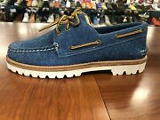 New Sperry Top Sider Menand039s Size 9 Boat Shoes Sts 21606 Nautical Blue Retail 225