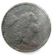 1794 Liberty Cap Large Cent 1c Coin S-43 - Anacs Vf20 Details - Rare Coin