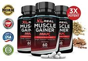 Xl Real Muscle Gainer Max 1600mg Mens Health Increase Strength Stamina 3 Pack