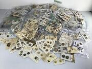 Lot Of 593 Cards Well Over 1200 Vintage Sewing Beige Buttons On Original Cards
