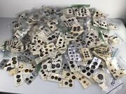 Lot Of 902 Cards Well Over 2000 Vintage Sewing Brown Buttons On Original Cards