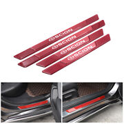 4pcs Red Carbon Fiber Car Door Scuff Sill Cover Panel Step Protector For Scion