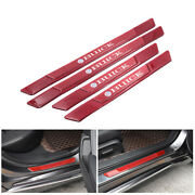4pcs Buick Red Carbon Fiber Car Door Scuff Sill Cover Panel Step Protector