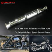 Chrome 45mm Lotus Root Exhaust Muffler Pipe Removable Baffle For Harle Chopper