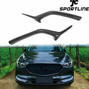 Fits Mazda Cx-5 Cx5 Cx-8 2017-2020 Front Grill Grille Molding Cover Carbon Look