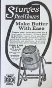 Vintage Ad 1917 Xx41sturges Steel Butter Churns. Sturges And Burn Mfg. Co.