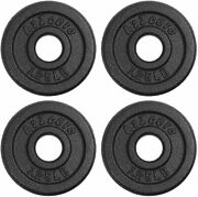 A2zcare Standard Cast Iron Weight Plates 1-inch Center-hole For Dumbbells