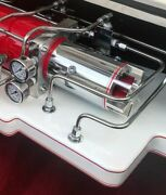 Chrome Competition Hydraulic Motor W Custom Built In Cooling Turbine