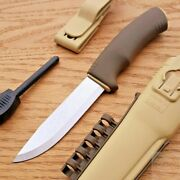 Mora Bushcraft Survival Fixed Knife 4.25 Stainless Steel Blade Synthetic Handle