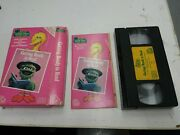 Rare,1986,vhs Sesame Street Home Video Getting Ready To Read