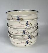 Set Of 5 Gorham Town And Country Melon Bud Cereal Bowl 5 5/8 Discontinued Mint