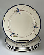 Set Of 5 Gorham Town And Country Melon Bud Dinner Plate 10 3/4 Discontinued Mint