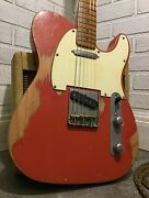 Relic Fender Telecaster Road Worn Red Electric Guitar By Nateand039s Relic Guitars