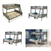 Antique Grey Twin And Full Louver Bunk Bed