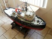 Rc Dumas Mr Darby Tug Boat Large Includes Transport Gear.andnbsp