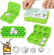 Ice Cube Traysilicone Ice Cube Molds For Freezer With Lid Set Of 4