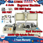 Usb 4 Axis Cnc 6090 Router Milling Drilling Engraving Metal Machine 1.5kw/2.2kw