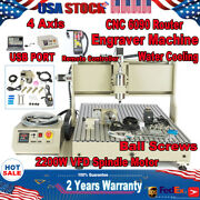 Usb 2.2kw 4 Axis Cnc 6090 Router Engraver Machine Engraving 3d Cutter+controller