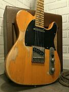 Relic Tele Style Harley Benton Te-52 Electric Guitar By Nateand039s Relic Guitars