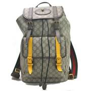 Backpack Software Gg Courier Beige Pvcx Leather Mens 473869 _69100