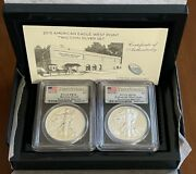 Us Mint 2013 American Eagle West Point Silver Set Pcgs First Strike Pr70 And Ms70