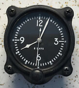 Elgin National Watch Co Grade 562 A-7 2 1/4 8 Jewel Aircraft Clock White Number