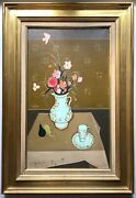Fine French Oil Painting Bouquet Of Flowers Signed Simon-auguste 1909 - 1987