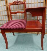 Vintage Art Deco Telephone Phone Gossip Table Chair Excellent Condition Home