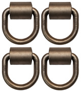 4 Pack 5/8 Weld-on Forged D-rings W/ Clips, Mbs 18000 Lbs, For Cargo Tie-down