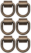 6 Pack 5/8 Weld-on Forged D-rings W/ Clips, Mbs 18000 Lbs, For Cargo Tie-down