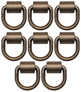 12 Pack 5/8 Weld-on Forged D-rings W/ Clips, Mbs 18000 Lbs For Cargo Tie-down
