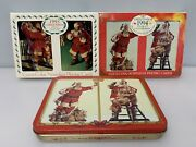 Vintage 1993 And 1994 Coca-cola Nostalgia Santa Playing Cards 3 Sets New