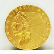1928 2.50 Indian Quarter Eagle Two Dollar Fifty Cent Gold Coin Usa 2-1/2