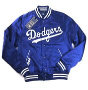 Polo Menand039s Mlb Collection Dodgers La Satin Jacket Size Xl New Nwt