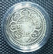 Rare 1753 Nepal One Mohar Silver Coin Km565 Andoslash26mm+free1 Coin13864
