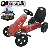Hauck Fire Rescue Pedal Go Kart Steel Tube Frame Ride-on Kid Fun Play Riding Toy