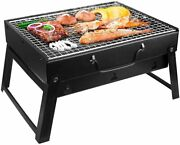 Simpoo Folding Charcoal Bbq Grill,portable Barbecue Tool Kits For Outdoor Picnic